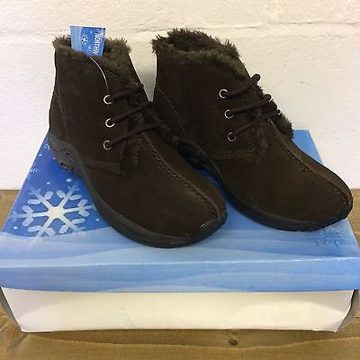 Ladies Suede Furry lined boots size 3 North west brand