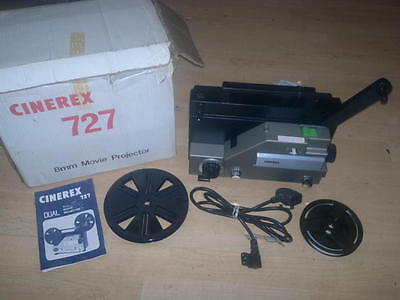 CINEREX 727 DUAL SUPER 8  &8mm Dual Format CINE MOVIE FILM PROJECTOR,Working