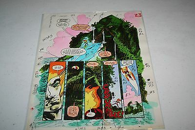 Firestorm Swamp Thing Original Art Color Guide awesome!