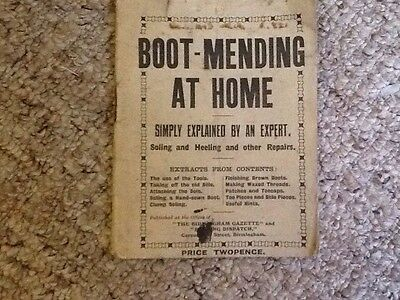 vintage Boot Mending At Home Book 1930s 1940s