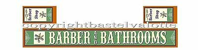 Westernhaus Aufkleber - Barber and Bathrooms -