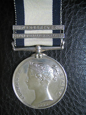 Naval General Service 1793  2 Clasp Medal Also In Nelson Classic Actions 1795