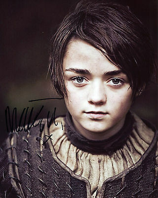 Maisie Williams - Arya Stark - Game of Thrones - Signed Autograph REPRINT