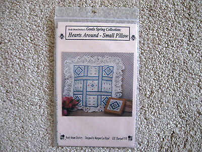 Hearts Around Hardanger Small Pilow Gentle Spring Collection Margaret Lee Rigiel