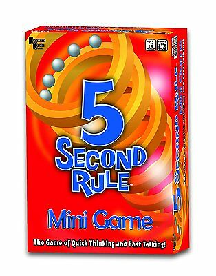 5 Second Rule Mini Family Game Funny Travel Board 3-6 Players Fast Thinking