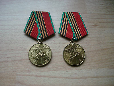 Two Variants Cold War Era Soviet Russian Cccp 40Th Anniversary Ww2 Medals Awards