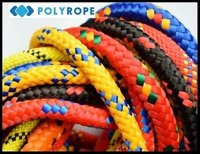 5mm Braided Polypropylene Poly Rope Sailing Yacht Boat Camping Various Colours