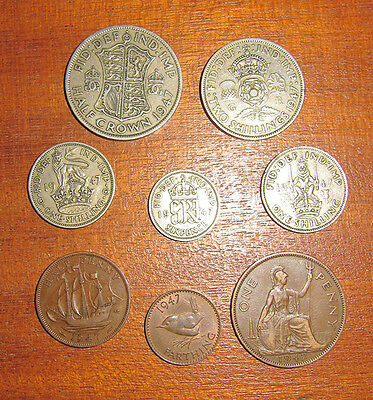 A nice 1947 George VI coin set - 70th birthday?