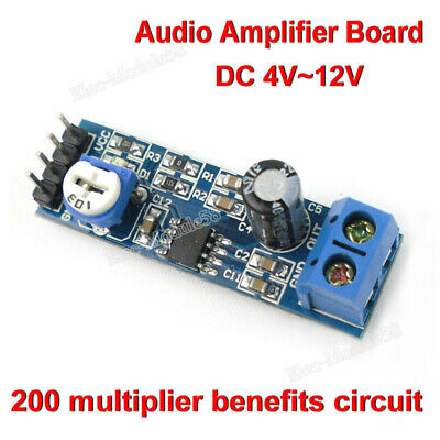 LM386 DC 5V~12V Mini Audio Amplifier Board Amp Module HIFI DIY