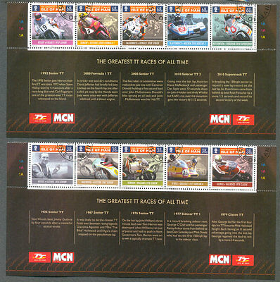 Isle of Man-TT Races-Great TT Riders set Motorcycles- 2011 cto fine used