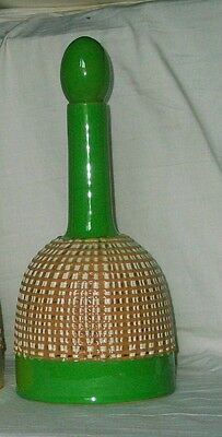 Italian Mid Century Modern Fratelli Fanciullacci Art Pottery Decanter Italy Sgnd