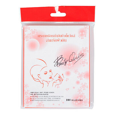 Beauty Quicks Absorption Make Up Paper For Removing Oily Shine On Face 100-Sheet