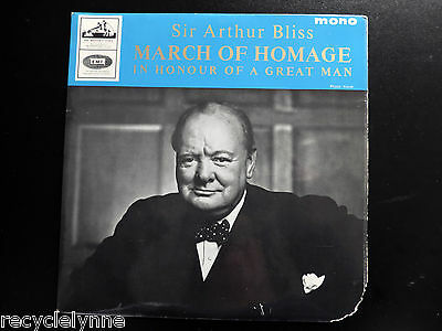 "Sir Arthur Bliss - March of Homage - The Central Band of the RAF 7"" UK Vinyl 45"