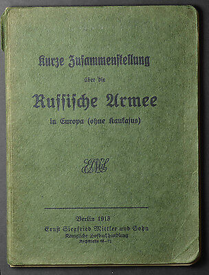 Russian army textbook for German officers WW1 (1832)