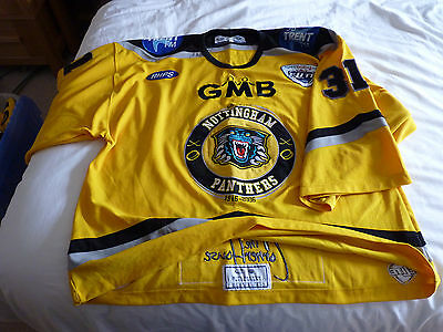 Nottingham Panthers Game Worn Jersey -  Evan Lindsay