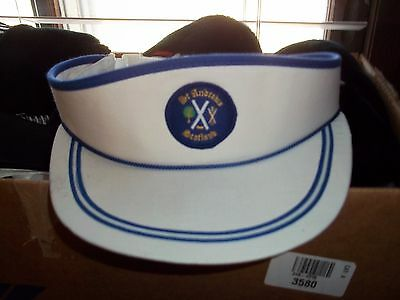 A Sun Viser, From St. Andrews Scotland, Blue And White, New.