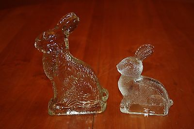 J.H. Millstein Peter Rabbit Bunny Glass Candy Container Jeannette PA 1940s-1950s