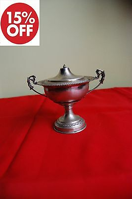 Vintage TWO HANDLED COVERED CUP in Silver 800