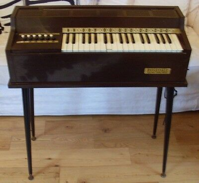 Vintage 1970's Rosedale Electric Organ On Legs In Good Working Condition