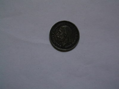 Vintage Silver  1934 3 Pence  Coin