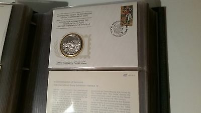 1976 Society of Postmasters: Denmark Sterling Silver Medal and FDC