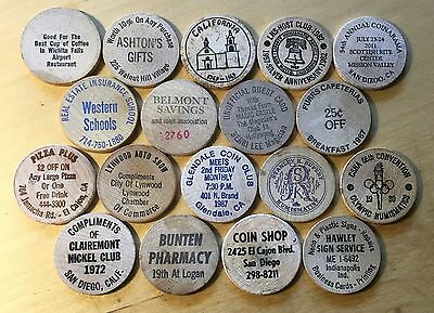 Lot Of 18 Wooden Nickels (Lot 10)