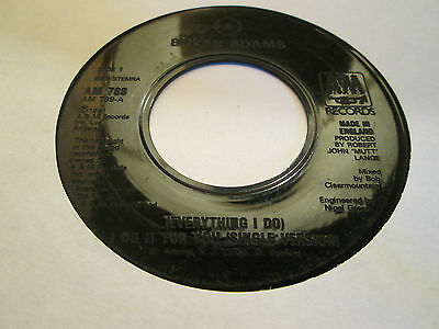 BRYAN ADAMS - EVERYTHING I DO I DO IT FOR YOU 1991 Jukebox Single AM 789
