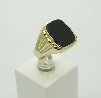 Onyx Ring 585er Gold ca. 6,3 g Gr.19,4 (61)