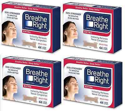 176 Breathe Right Extra Nasal Strips Tan Strips One Size