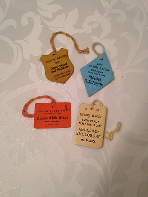 4x Epsom Derby Entry Badges