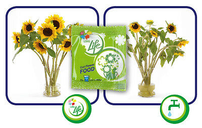LongLife Cut Flower Food Best Quality & Long Lasting 25/50/100/150/200 Packets