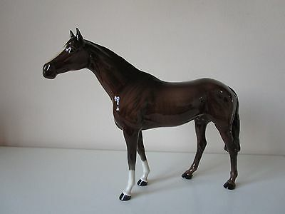 Beswick Racehorse 1564, Large Brown, Mint, Vintage England.