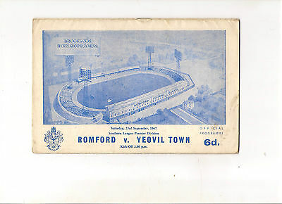 1967/8  Romford v Yeovil  (Southern League)