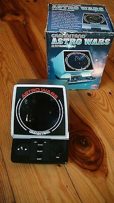Astro wars 1981 made in japan red writing vintage retro hand held game