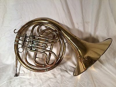 "French Horn, Marked ""American Diplomat"". Steampunk Decor."