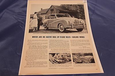 "1954 Austin Somerset Convertible Original Ad 10-1/4"" X 13-3/4"""