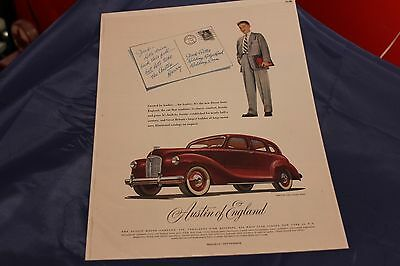 "1948 Austin Devon 4-Door Sedan Original Ad 10-1/4"" X 13-3/4"""