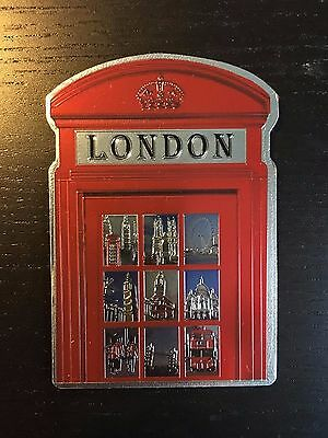 New London Red Telephone Box Fridge Magnet Souvenir Collection Metal