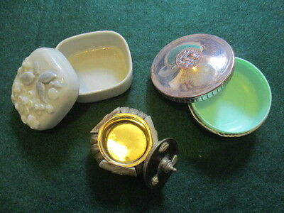Collection old vintage trinket boxes one Wade