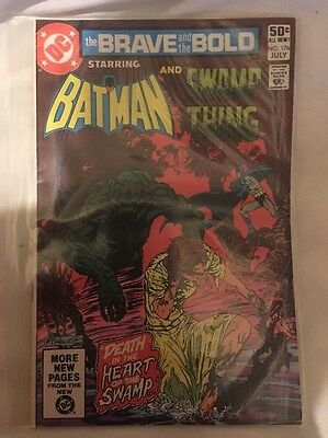DC Comics Brave And The Bold 176 1981  Vintage Batman Swamp Thing