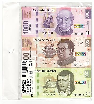 SET 30 Banknotes MEXICO BILLETES DIDACTICOS (PLAYING MONEY)