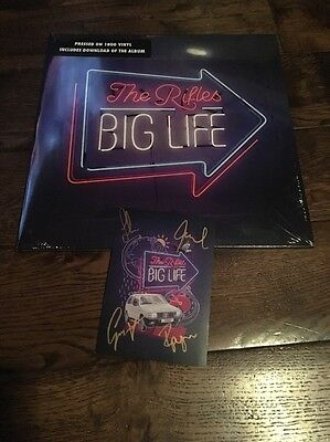 "The Rifles ""Big Life"" Blue Rare Vinyl LP Record New & Sealed Signed Print 1/300"