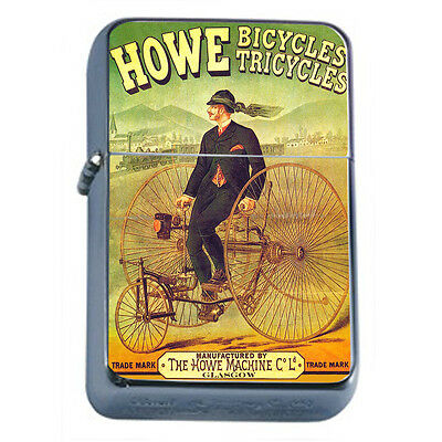 Vintage Poster D150 Windproof Dual Flame Torch Howe Bicycles Tricycles Machine
