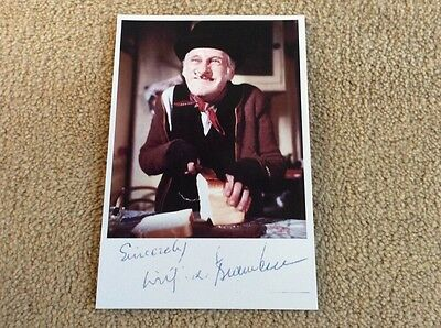Wilfred Brambell As Albert Steptoe - Steptoe And Son Pre Print Signed Card