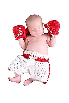 JT-Amigo Baby Photography Prop, Newborn Boxing Costume Outfits, Size Newborn