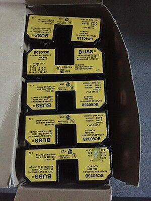Buss Lot Of 5 Fuse Holders Bc6033B
