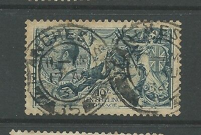 George V  seahorse ten shillings blue first engraving dated cancels