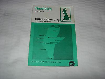 Cumberland Motor Services Bus Timetable  May 1979