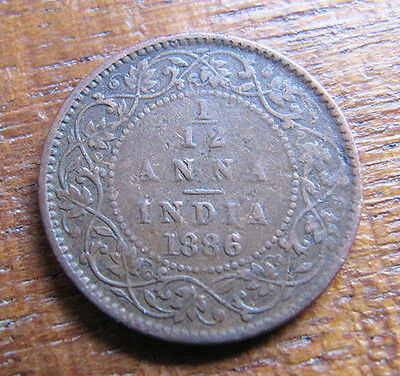 A nice Indian 1886 Victoria one twelth anna coin