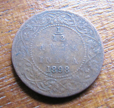 A Indian 1898 Victoria one twelth anna coin